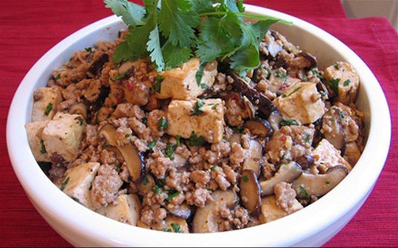 Cách Làm Đậu Hũ Sốt Nấm Và Thịt Băm Ngon Cực Đỉnh