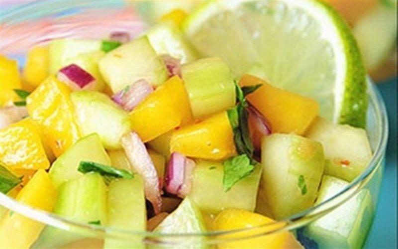 Cách Làm Salad Xoài Dưa Leo Ăn Kiêng Đơn Giản