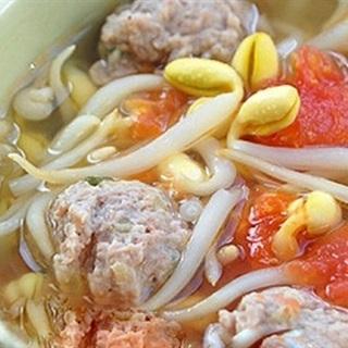 Cách làm canh thịt viên nấu chua