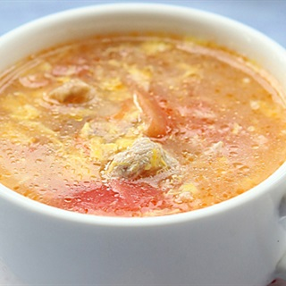 Cách làm canh trứng gà cà chua