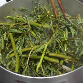 Canh chua rau nhút nấu nghêu
