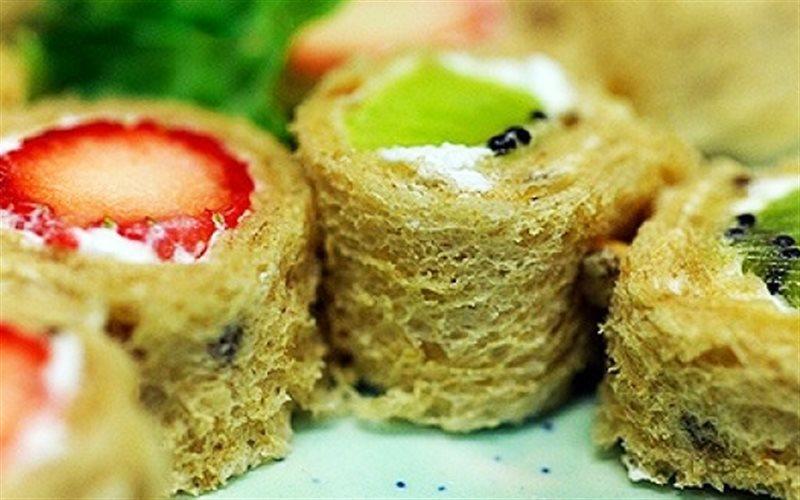 Cách làm sushi kem trái cây