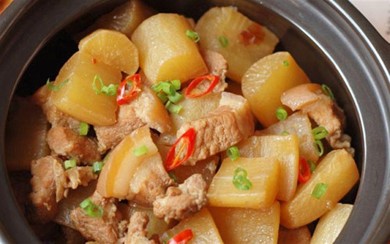 Cách Làm Củ Cải Trắng Kho Thịt Đậm Đà Bữa Cơm