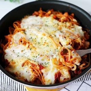 Mì Ý nướng phô mai