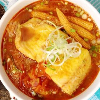 Cách nấu bún cá Tom Yum