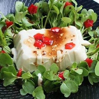 Salad đậu hũ non rau mầm