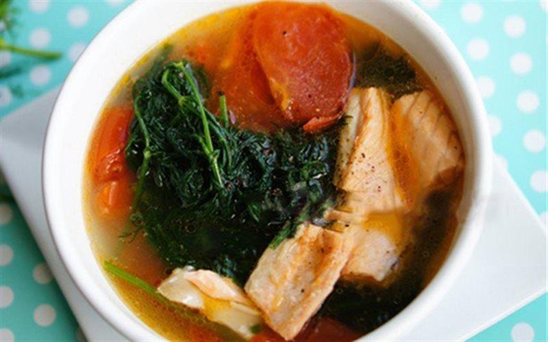 Cách làm Canh Cá Hồi Nấu Thì Là cực thơm, cực ngon, cực dễ