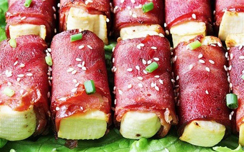 Cách Làm Thịt Xông Khói Cuốn Đậu Hũ Ngon Đổi Vị