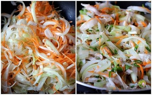 cách làm gỏi gà bắp cải