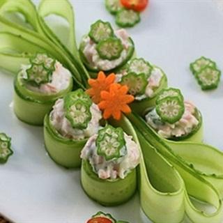 Salad đậu bắp trộn sốt