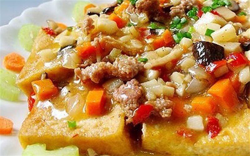 Cách làm Đậu Hũ Chiên Sốt Thịt Băm ngon gọn cho bữa cơm