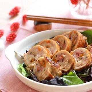 Gà cuộn rau củ