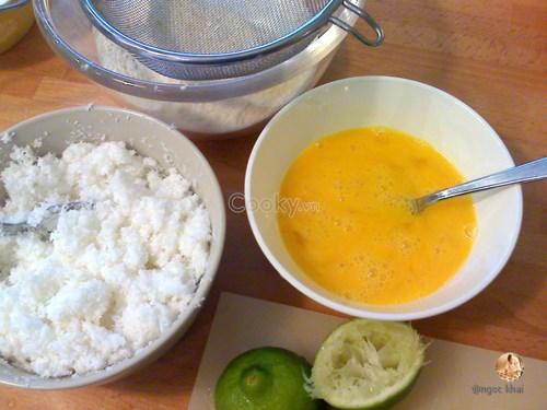 bánh cupcake chanh dừa