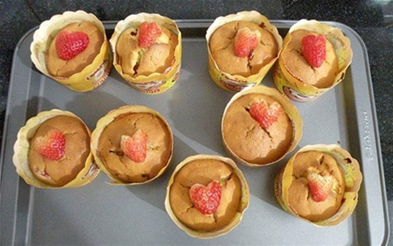 Cách Làm Bánh Cupcake Dâu Tây Sữa Chua Cực Ngon
