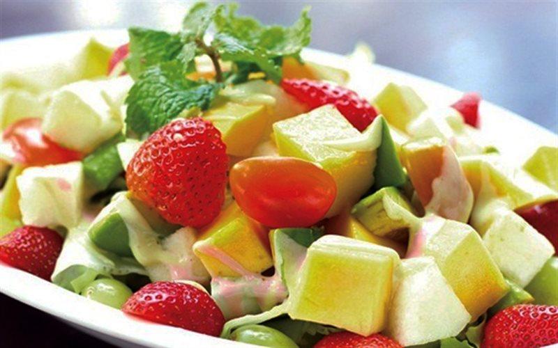 Cách làm Salad Trái Cây Trộn Siro Bạc Hà Vỏ Chanh đơn giản