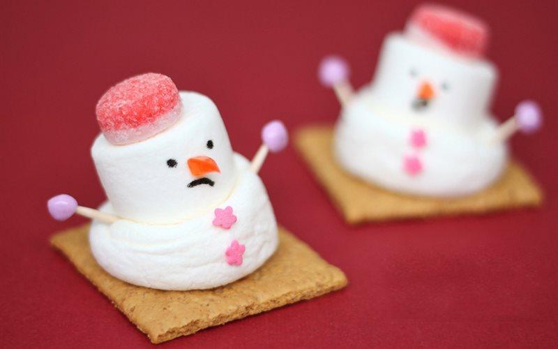 Cách Làm Kẹo Người Tuyết Cực Xinh Cho Bé Ăn Vặt