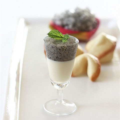 Panna cotta thanh long