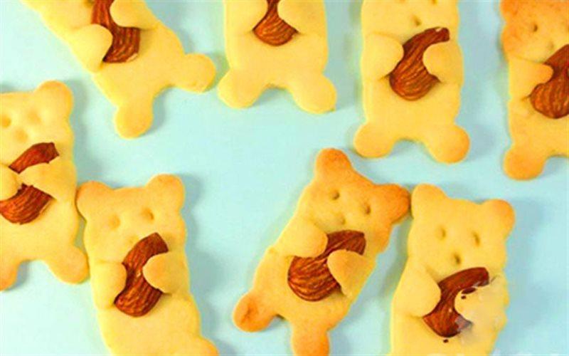 Cách Làm Bánh Quy Bơ Hạnh Nhân Hình Gấu Xinh Xắn