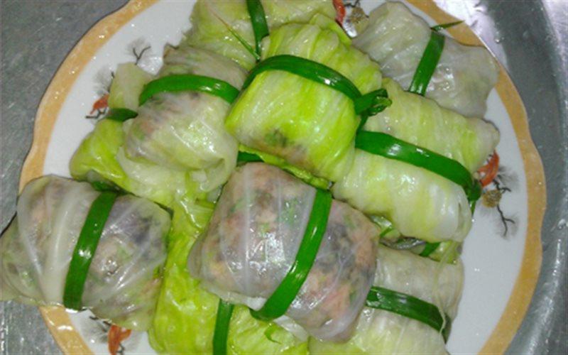 Cách làm bắp cải cuộn thịt nấm