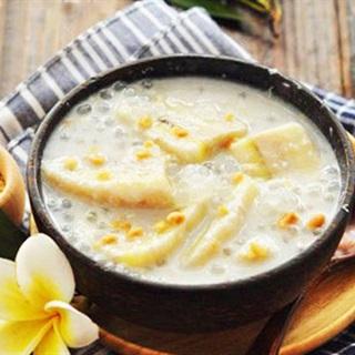 Cách Nấu Chè Chuối Cốt Dừa, Bột Báng, Béo Thơm