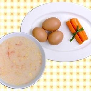 Bột trứng và cà rốt