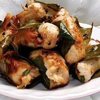 Cách làm gà nướng lá chanh