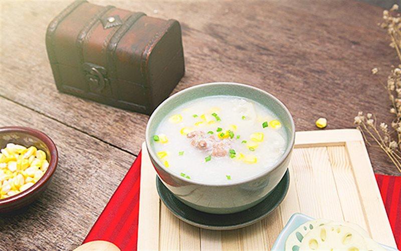 Cách nấu Cháo Củ Sen Bắp Non thơm ngon và dinh dưỡng