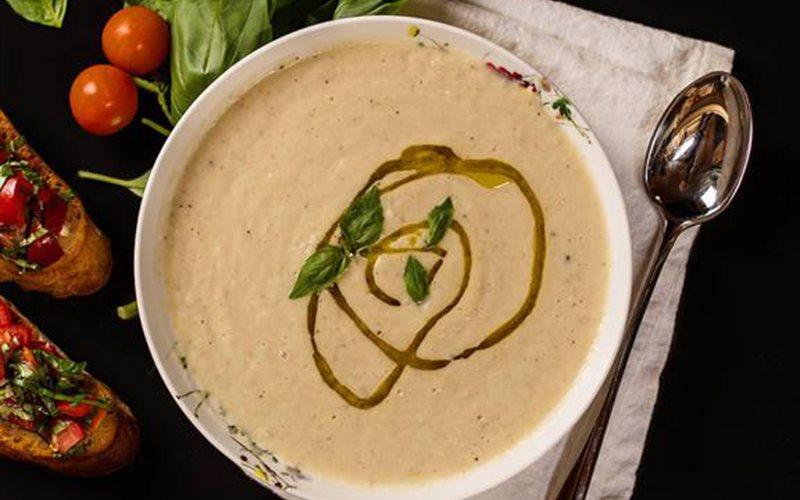 Cách làm Súp bông cải trắng sữa đậu nành