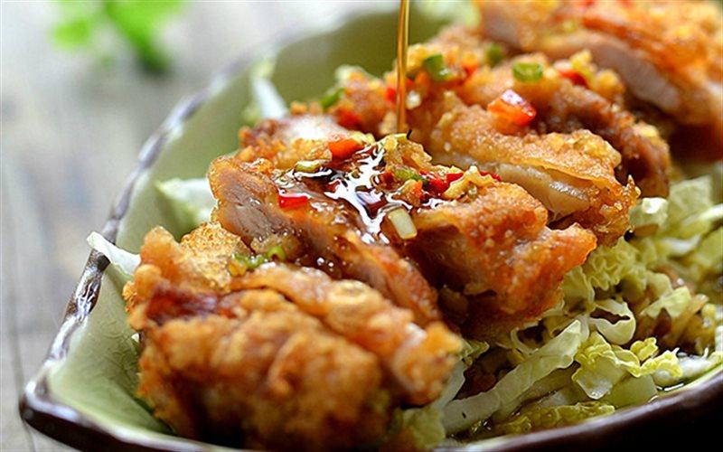 Cách Làm Salad Gà Chiên Cay Đơn Giản, Ăn Là Ghiền