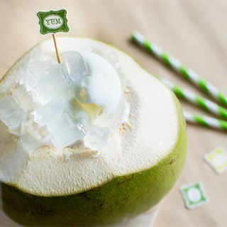 Cách làm bingsu trái dừa