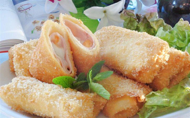 Cách Làm Bánh Cuốn Phô Mai Chiên Giòn, Béo Ngon