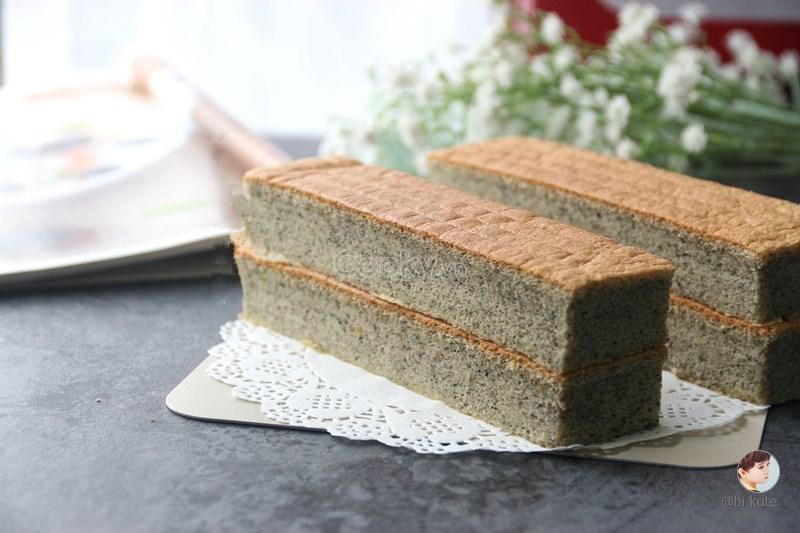 cách làm bánh bông lan mè đen