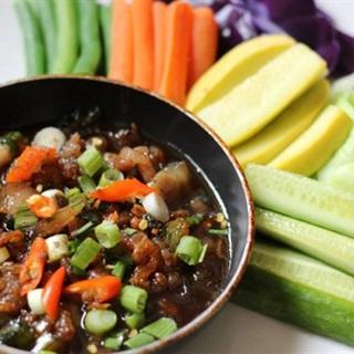 Cách làm Mắm Kho Quẹt tôm khô chấm rau củ đậm đà hương vị