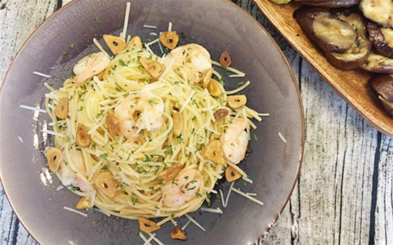 Cách Làm Spaghetti Xào Tôm Thơm Ngon Đơn Giản