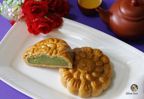 Cách làm bánh trung thu nhân trà xanh thơm mềm cực hấp dẫn - ảnh 2.