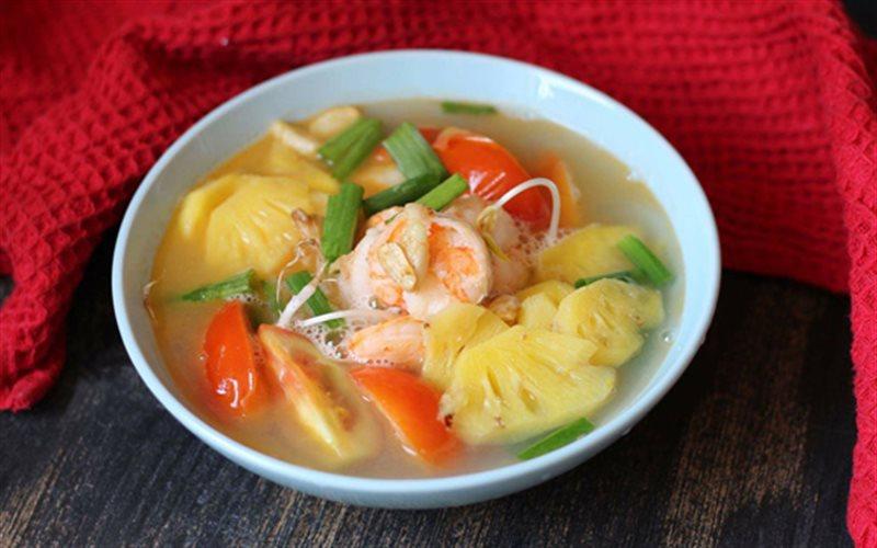 Cách nấu canh chua tôm nấu thơm