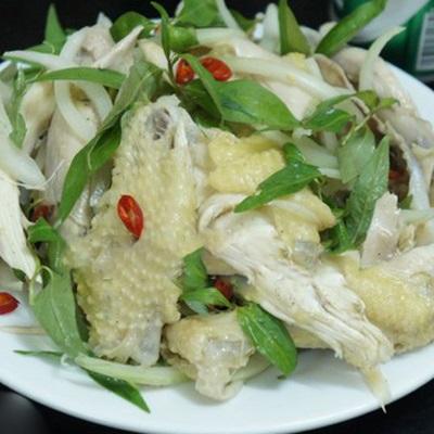 Cách làm gà bóp rau răm