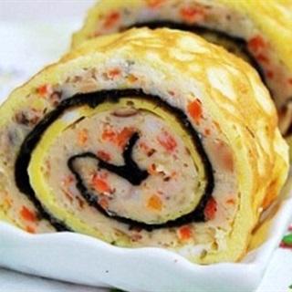 Cách làm Sushi Trứng Cuộn với tôm tươi cho bữa ăn gia đình