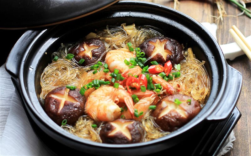 Cách Làm Miến Tôm Nấu Nấm Cực Ngon Để Thay Cơm