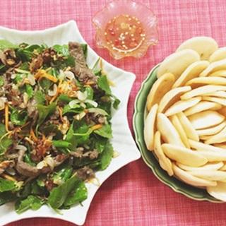 Cách làm gỏi rau má thịt bò