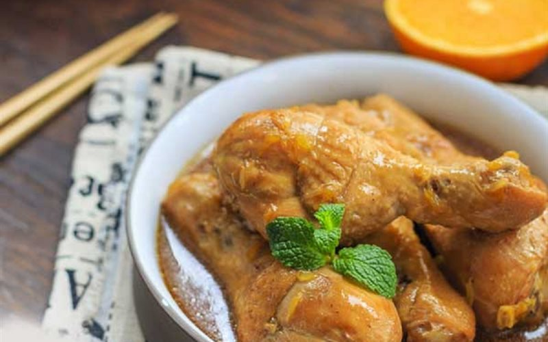 Cách Làm Thịt Đùi Gà Sốt Cam Mềm Ngon Vị Đậm Đà