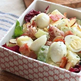 Cách Làm Salad Khoai Tây Trứng Cút Hấp Dẫn Dễ Làm
