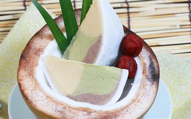 Cách làm Kem Miếng Dừa mát lạnh giải nhiệt mùa hè oi bức