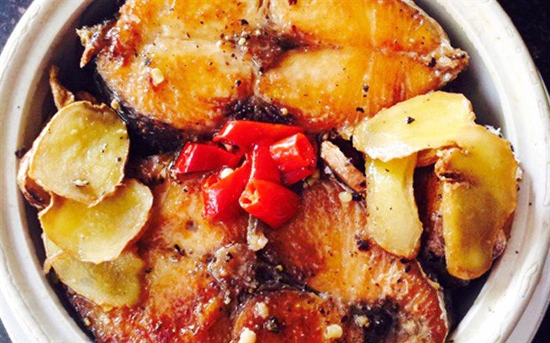 Cách làm Cá Thu Rim Gừng Ớt đậm vị tốn cơm cho mỗi bữa ăn