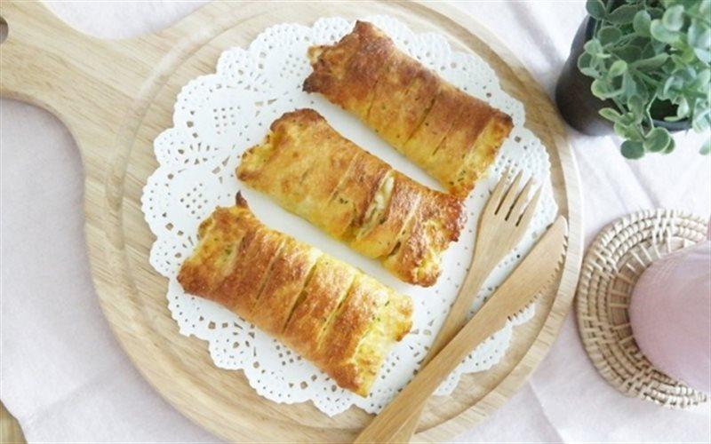 Cách Làm Bánh Mì Sandwich Cuộn Khoai Lang Ngon