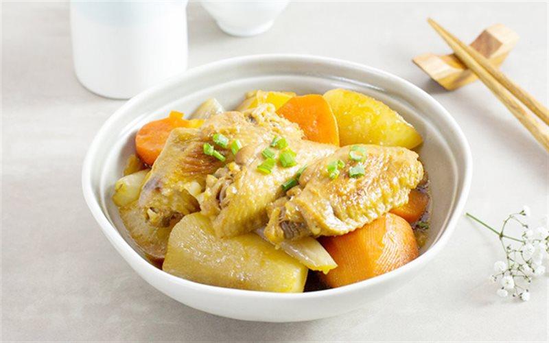 Cách làm gà kho củ cải