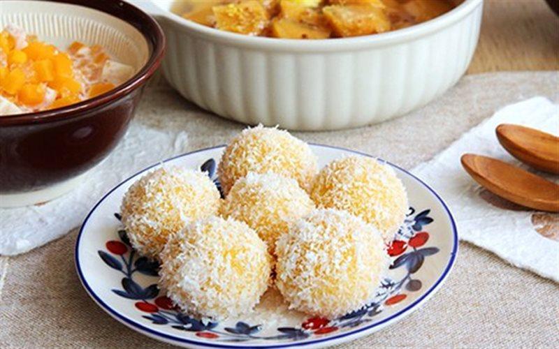 Cách Làm Bánh Khoai Lang Lăn Dừa Ăn Cực Ghiền