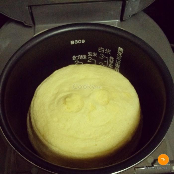 Bánh bông lan phô mai bằng nồi cơm điện