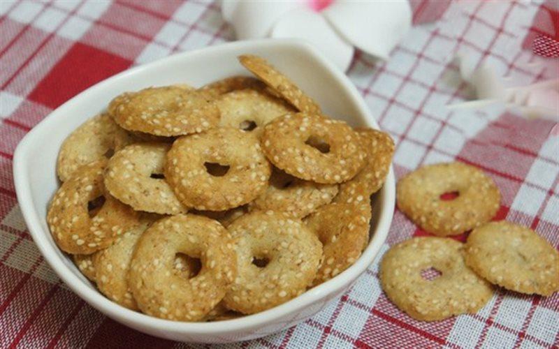 Cách làm bánh quy mè vòng