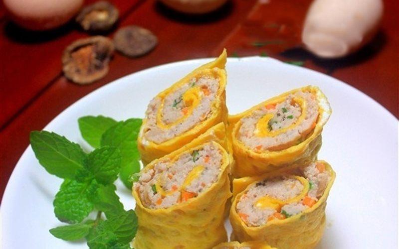Cách Làm Trứng Cuộn Thịt Hấp Đơn Giản, Thơm Ngon